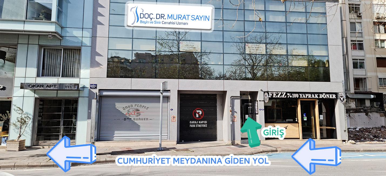 Doç. Dr. Murat Sayın Muayenehanesi yol tarifi